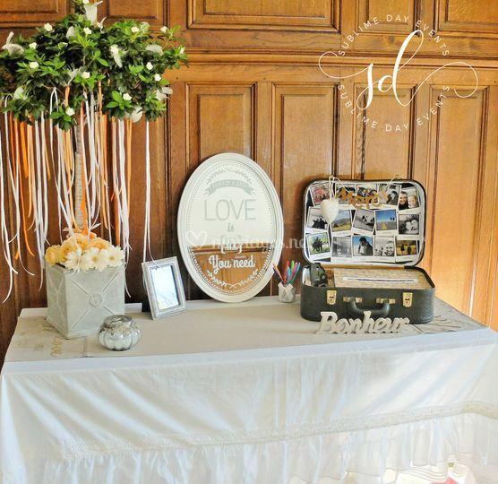 Table de signature et urne