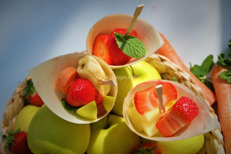 Les cônes de fruits