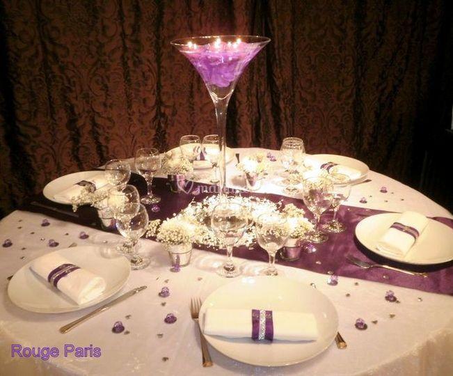 Table purple weeding.