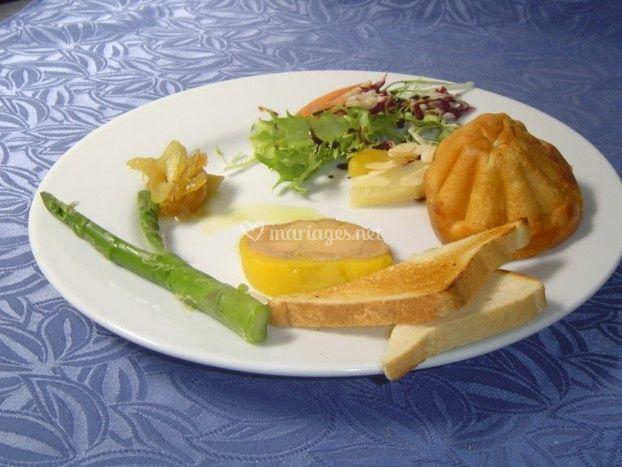 Brioche aux deux foie gras