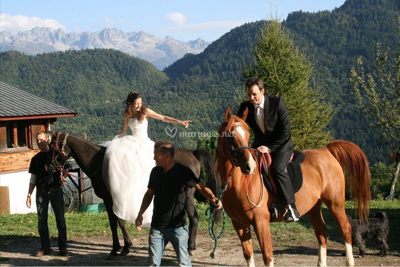 Les mariés à cheval