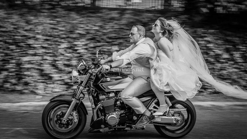 Séance couple moto