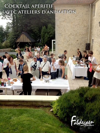 Buffet cocktail avec ateliers