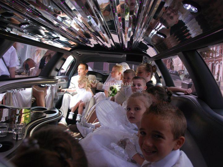 Lincoln limousine intérieur