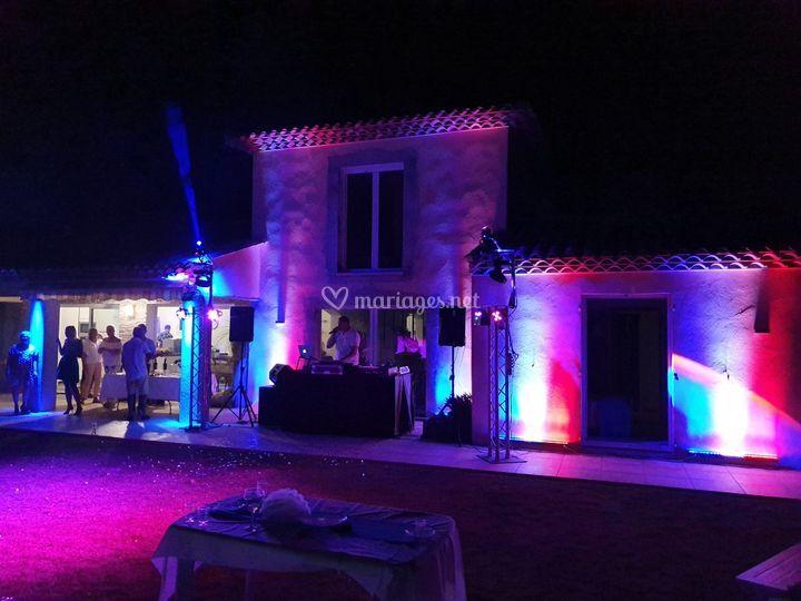 Éclairage façade villa