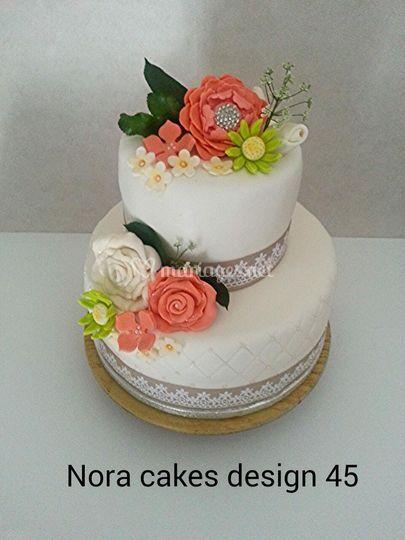 Wedding cake thème champêtre