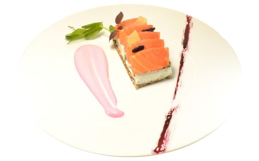 Cœur de saumon gravlax