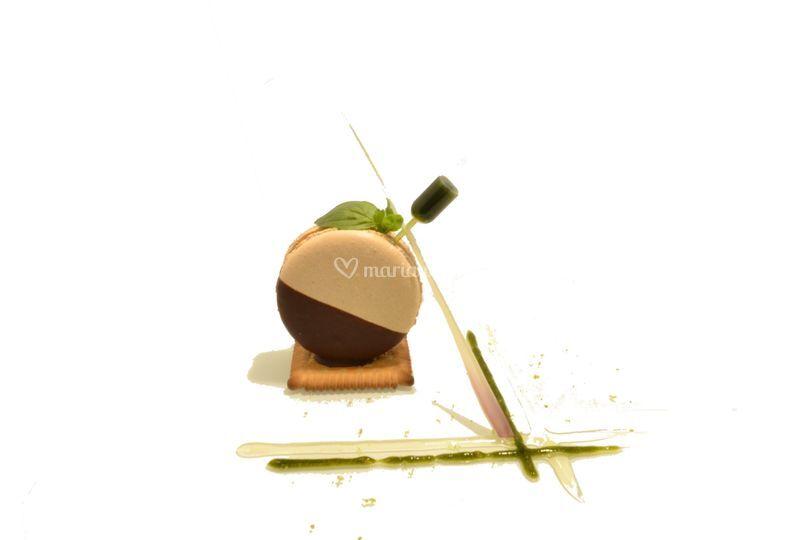 Macaron vertical vanille