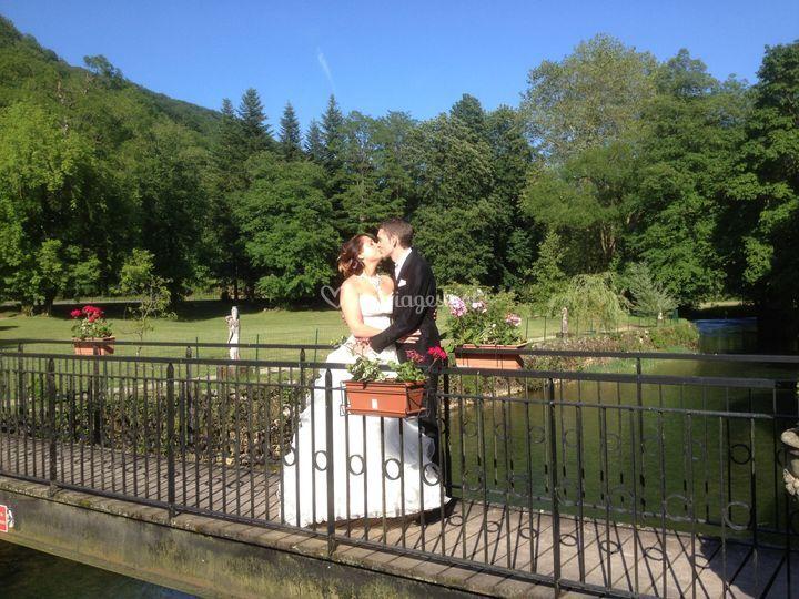 Photos de mariage dans le parc