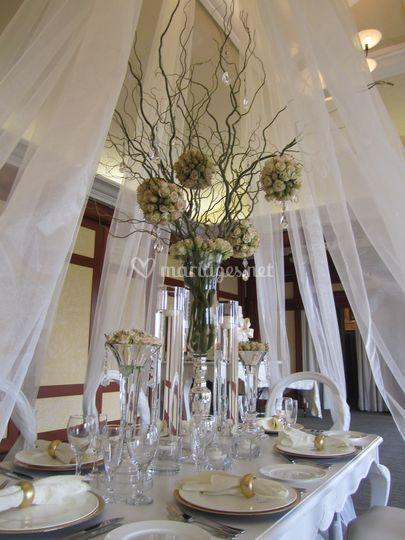 Mademoiselle fleur for Decoration table vin d honneur