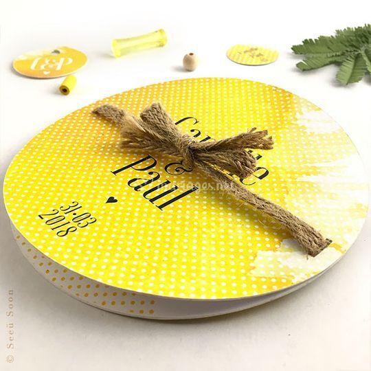 Mimosa • faire-part