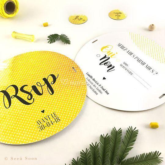 Mimosa • carton réponse
