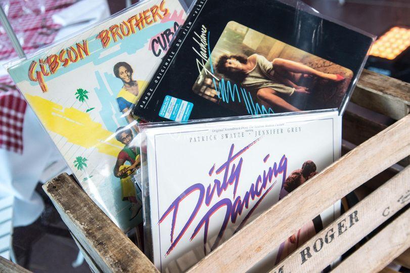 Caisse de vinyles
