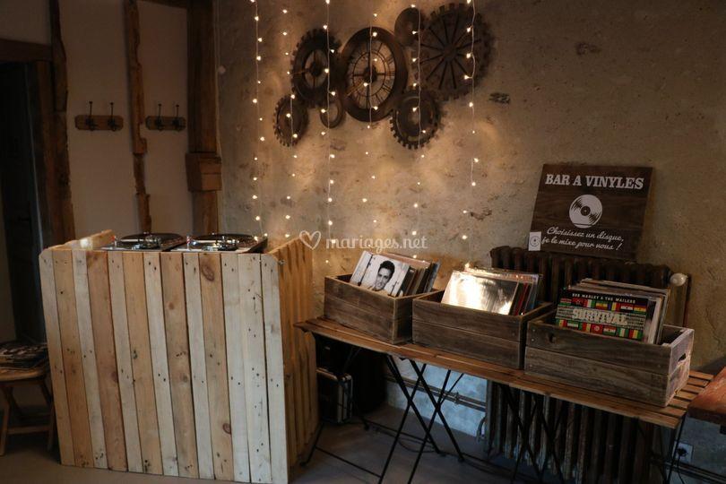 Bar à vinyles