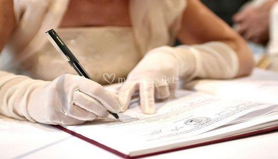 Papiers officiels mariage