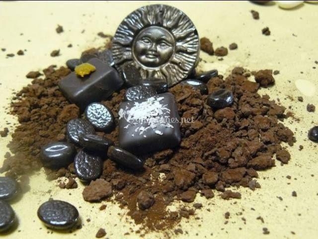 Composition en chocolat