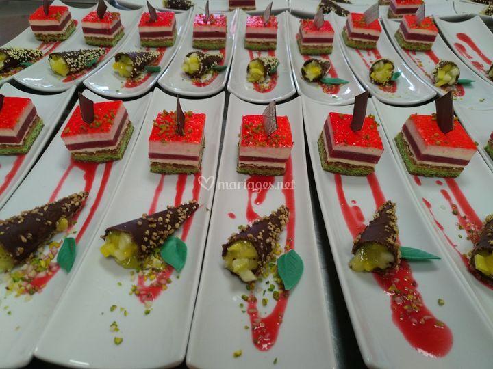 Tiramisu et cone fruits