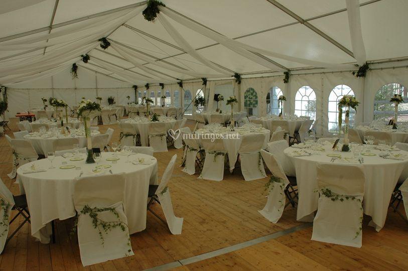 Tente de 240 m2 mariage