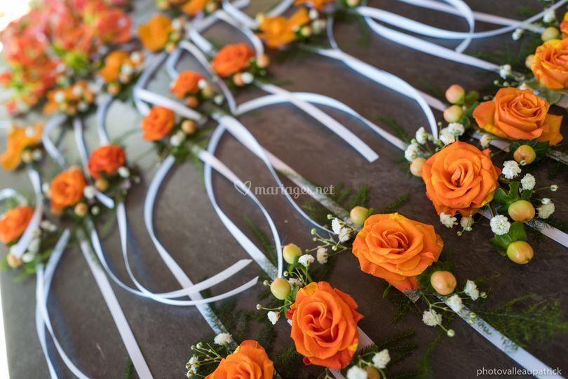 Bracelets de fleurs naturelles