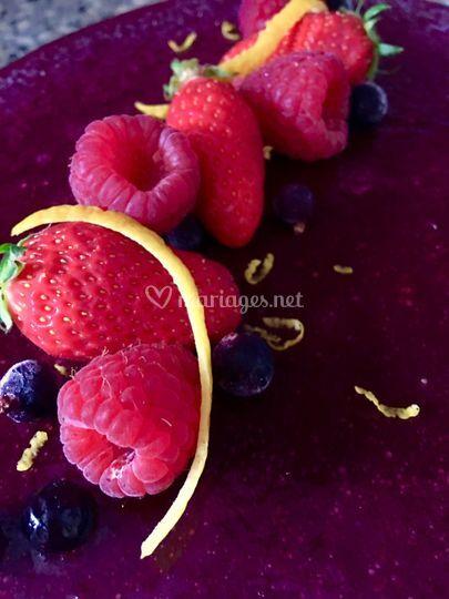 Entremets Fruits Rouges