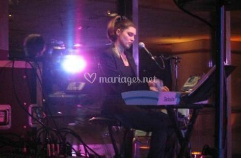 Lisa sur scène