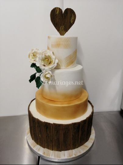Wedding cake nature et or