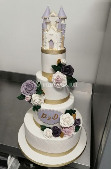 Wedding cake princesse parme