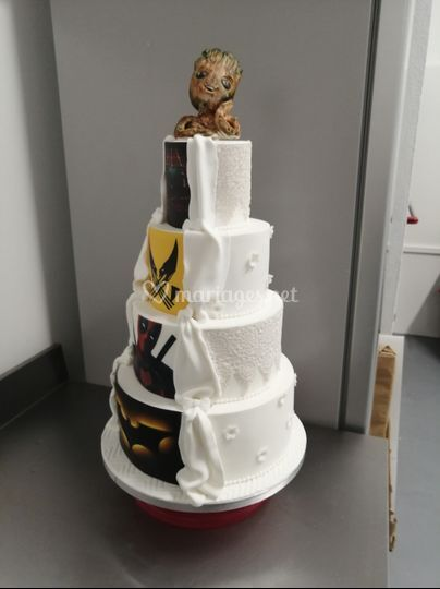 Wedding cake marvel dentelle