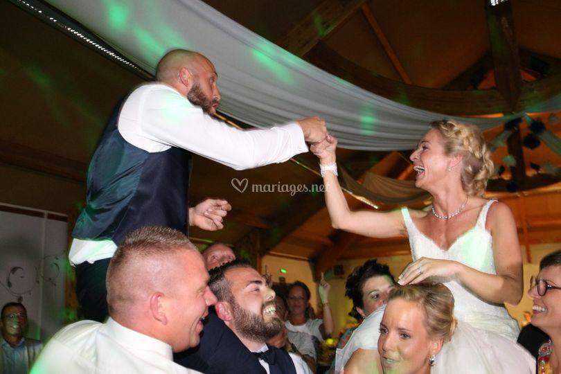 Ambiance pour les mariés