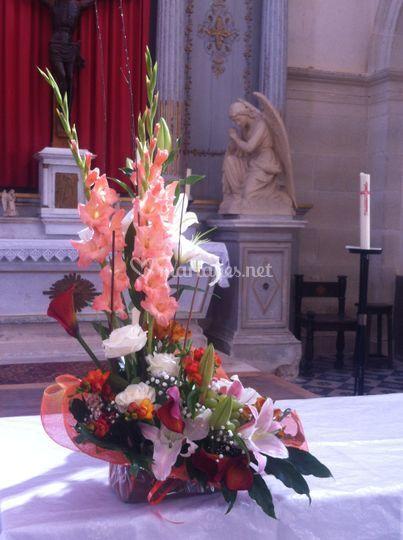 Décoration autel Igny