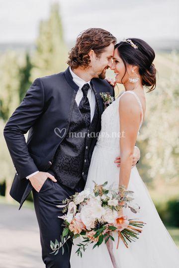 Couple mariés Toscane