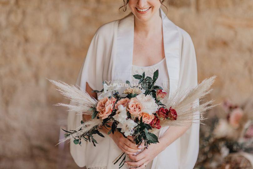 Bouquet de mariée pampa