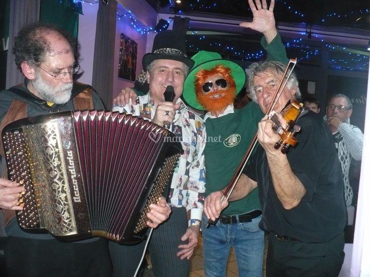 Celtic avec The Shamrocks