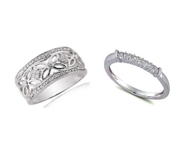 Duo argent diamants