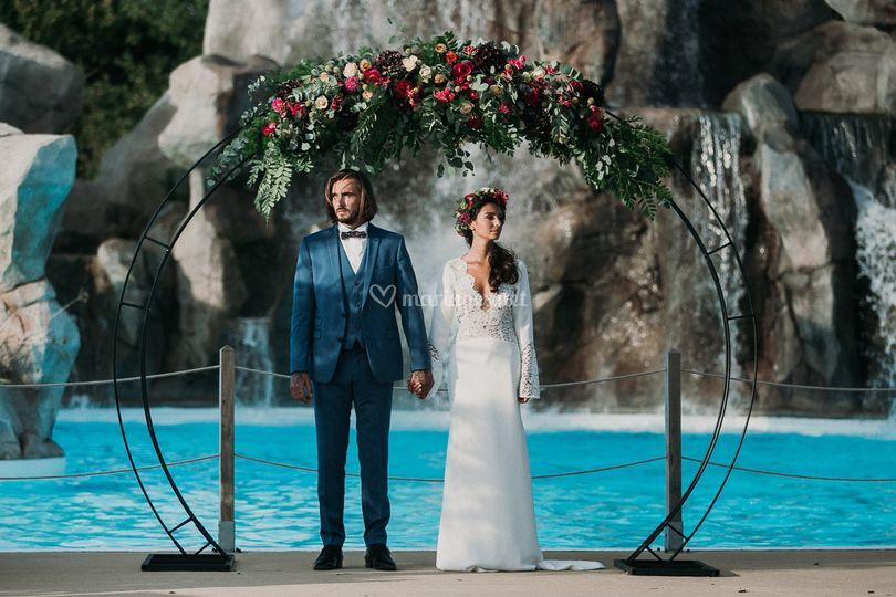 Mariés piscine