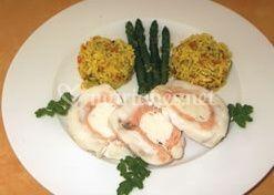 Plat à base de poisson et riz