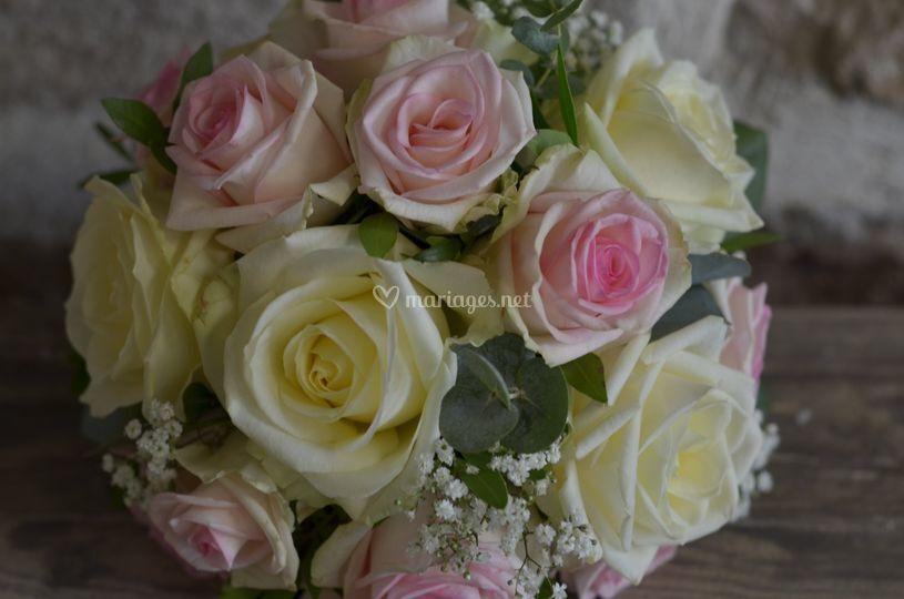 Bouquet de roses romantiques