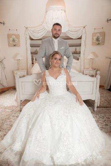 Couple de mariés - chambre