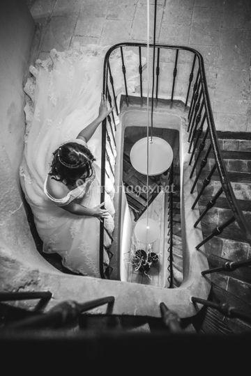 Escalier avec le tomettes