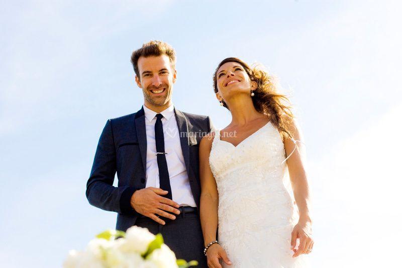 Les mariés après la cérémonie