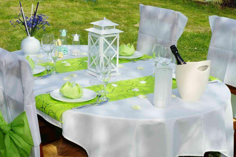 Table de réception Partylite