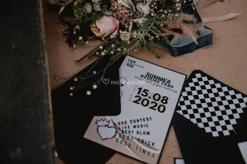 Rock & skate wedding
