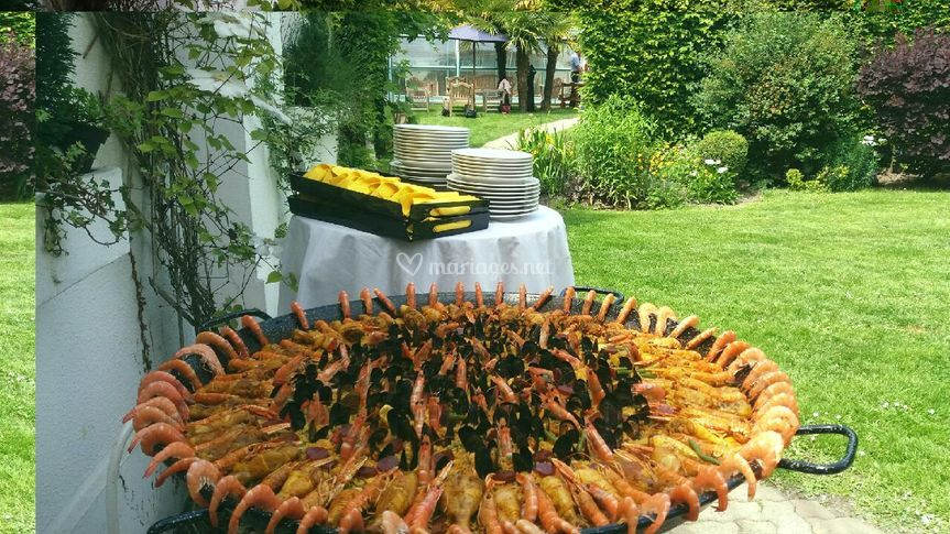 Paella mariage 75 personnes