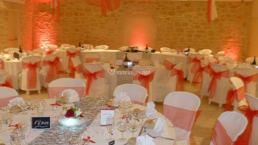 Salle décorée mariage