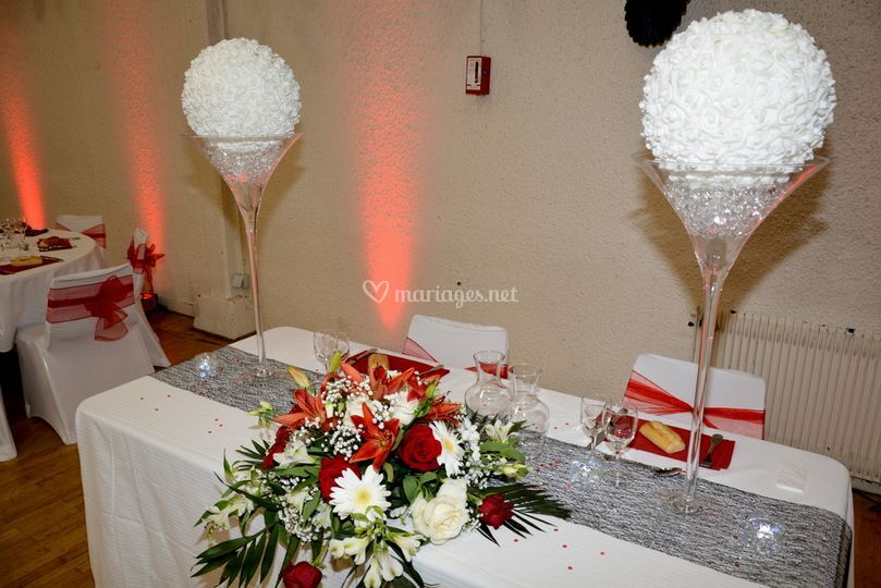 Table des mariée