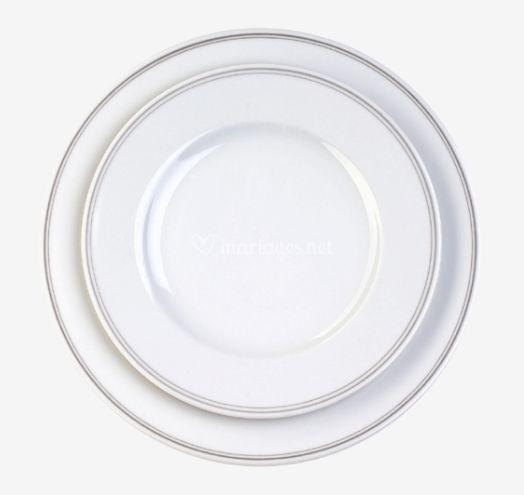 Assiette filet gris