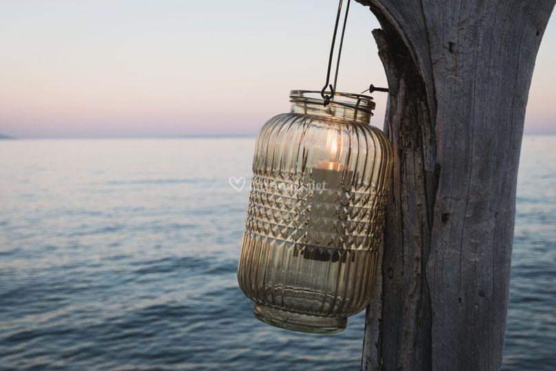 Bougie au bord de mer