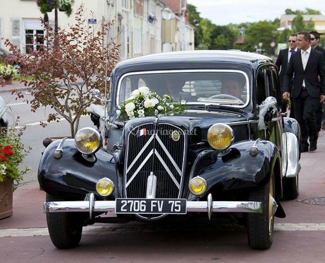 Transport de la mariée et du marié