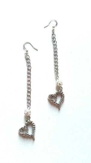 Boucles d'oreilles coeur 3