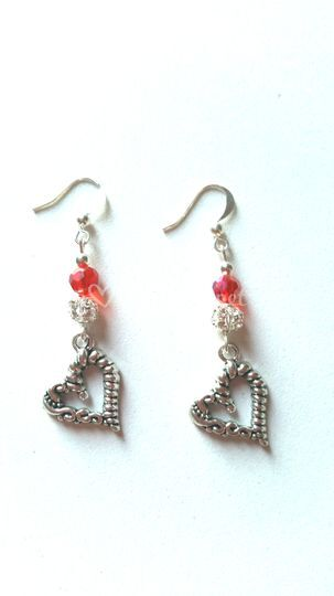 Boucles d'oreilles coeur 1